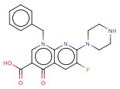 1-BENZYL-6-FLUORO-4-<span class='lighter'>OXO-7-PIPERAZIN-1-YL-1,4</span>-DIHYDRO-[1,8]NAPHTHYRIDINE-3-CARBOXYLIC ACID