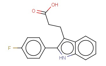 3-[2-(4-FLUOROPHENYL)-1H-INDOL-3-YL]PROPANOIC ACID
